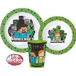 STOR Dětská sada plastového nádobí MINECRAFT S KELÍMKEM 3 dílná