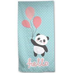 AYMAY Bavlněná osuška PANDA HELLO 70x140 cm