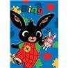 Dětskáfleecová dekasmotivem z animovaného seriálu Zajíček Bing. Základní vlastnosti:rozměry: 100x140 cm. 100% polyester, fleece. praní na 40°C. licenční výrobek.