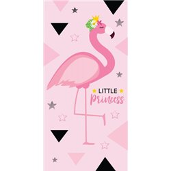 CARBOTEX Bavlněná osuška FLAMINGO-PLAMEŇÁK LITTLE PRINCESS 70x140 cm