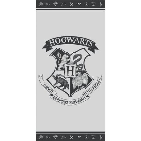 CARBOTEX Bavlněná osuška HARRY POTTER ERB BRADAVIC 70x140 cm
