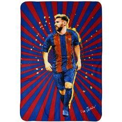 Fleecová deka FC Barcelona Messi 100x140 cm
