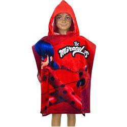 AYMAX Bavlněné pončo MIRACULOUS LADYBUG BE RED 60x120 cm